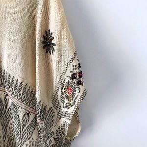 Free People oversized embroidered shirt